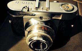 Картинка макро, фон, камера, Voigtlander Vito B
