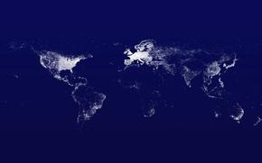 Обои Земля, дороги, материки, инфраструктура