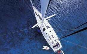Картинка sea, yacht, sailing ship, mast