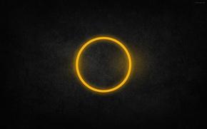 Обои желтый, круг, текстура, кольцо