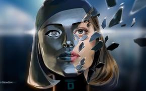 Картинка art, Mass Effect 3, EDI, synthesis