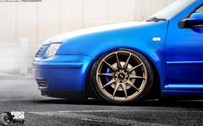 Обои Eryk Wroblewski, JDM Style, XXR, Car, Bora, диски, Volkswagen, Jetta, Blue, Wheels, обода
