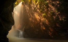 Картинка вода, свет, природа, скалы, проход
