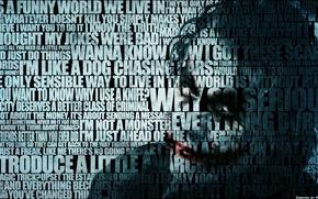 Обои Joker, текст, Batman, Бэтмен, quotes, Джокер, надпись