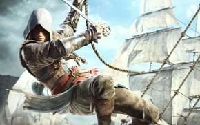 Картинка корабли, пират, Edward Kenway, Assassin's Creed IV Black Flag