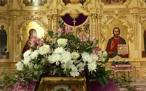 Картинка цветы, Иисус, церковь, Храм, иконы, ОМСК, СИБИРЬ, Богородица