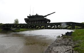 Картинка танк, переправа, боевой, Leopard 2A