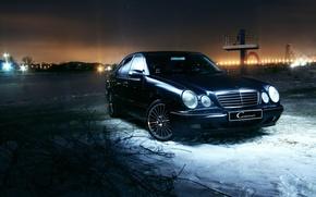 Картинка Mercedes-Benz, Mercedes, E-class, 2000, E-Klasse, E-класс, W210, Executivklasse, Лупатый, Глазастый, E430
