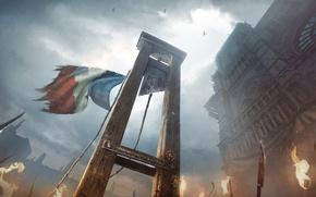 Картинка париж, убийство, франция, гильотина, Assassin's Creed: Unity