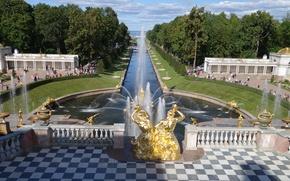 Картинка пейзажи, фонтаны, Петергоф
