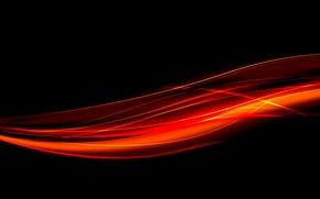 Обои огонь, линии, свечение