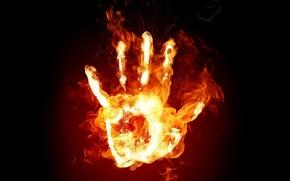 Картинка огонь, пламя, рука