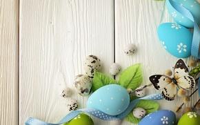 Картинка цветы, яйца, Пасха, flowers, Easter, eggs