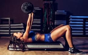 Картинка pose, female, workout, fitness