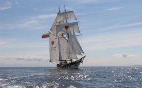 Картинка training, sailing, Scientific research, vessel BRABANDER