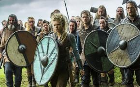 Картинка воины, Vikings, Викинги, Katheryn Winnick, Lagertha