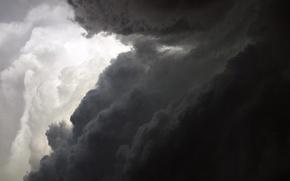 Картинка белый, облака, черный
