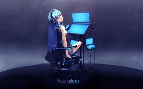 Обои Vocaloid, наушники, Hatsune Miku