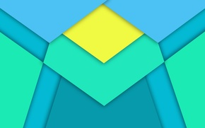 Картинка Android, Blue, Design, 5.0, Line, Yellow, Lollipop, Stripes, Abstraction, Material