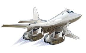 Картинка самолет, арт, wallpaper, ВВС, ракетоносец, Ту-160, белый лебедь, России., разработчик, ОКБ Туполева, ВКС, креатив рисунок …