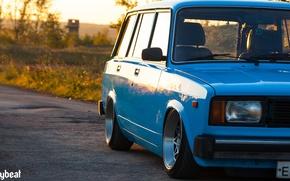 Картинка смайлик, blue, голубая, 2104, советская машина, bodybeat