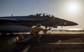 Обои самолёт, оружие, FA-18F, Super Hornet
