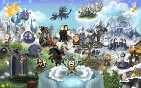 Картинка рисунок, персонажи, cartoon, Skyrim, The Elder Scrolls V
