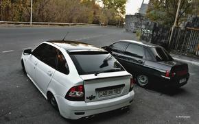 Обои Lada, БПАН, Авто, priora, 2110, ВАЗ, Лада, auto, машина, Без Посадки Авто Нет, приора
