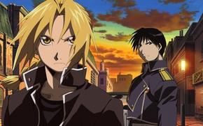 Картинка fullmetal alchemist, anime, Edward Elric, Roy Mustang
