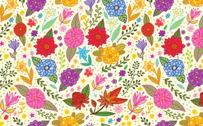 Картинка цветы, текстура, арт, art, pattern