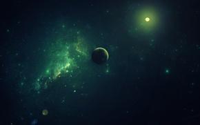 Картинка космос, звёзды, space, planet, fallenZeraphine