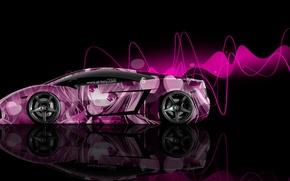 Картинка Pink, Lamborghini, Стиль, Girl, Обои, Розовые, Аниме, Gallardo, Photoshop, Фотошоп, Side, Ламборгини, Галлардо, Эффекты, 2014, …