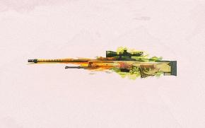 Картинка оружие, фон, винтовка, снайперская, CS:GO