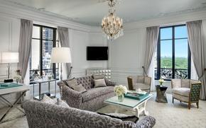 Картинка дизайн, стиль, интерьер, мегаполис, living room, жилая комната, городская квартира, interier, Monroe, Tiffany suite