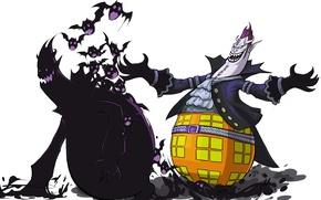 Картинка zombie, game, One Piece, anime, man, bat, captain, evil, asian, manga, shadow, japanese, belt, gloves, …