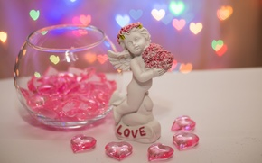 Картинка любовь, праздник, сердце, ангел, 14 февраля, valentine's day, День влюбленных, фигурное боке