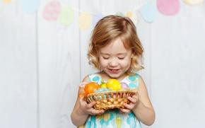Картинка радость, ребенок, Пасха, child, Easter, holiday, маленькая девочка, Little girls