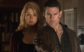Обои триллер, Tom Cruise, криминал, Rosamund Pike, Jack Reacher, боевик, детектив