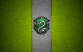 Картинка Гарри Поттер, герб, snake, Hogwarts, Harry Potter, Хогвартс, deviantart wallpapers, Слизерин, Slytherin, by theladyavatar