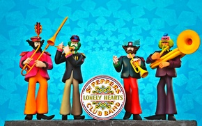 Картинка The Beatles, Yellow Submarine, Sgt. Pepper's Lonely Hearts Club Band