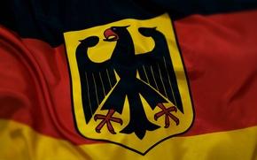 Обои флаг, герб, германия