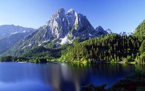 Картинка облака, горы, озеро