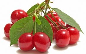 Обои вишня, ягоды, красные