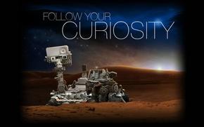 Картинка Марс, марсоход, Curiosity
