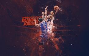 Картинка Баскетбол, Los Angeles, NBA, Detroit, Pistons, Clippers, Brandon Knight, Брэндон Найт, Деандре Джордан, DeAndre Jordan
