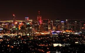 Обои Город, ночь, Огни