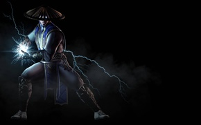 Обои дым, боец, ток, Raiden, Рейден, Warner Bros. Interactive Entertainment, NetherRealm Studios, Mortal Kombat X