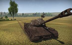 Картинка поле, оружие, танк