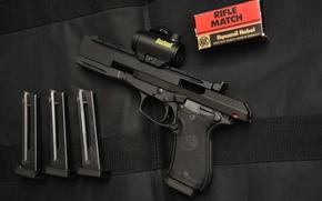 Обои made in Italy, Beretta 87, pistol, weapon, Beretta, chargers, gun, ammunition, Beretta 87 Target, spare ...
