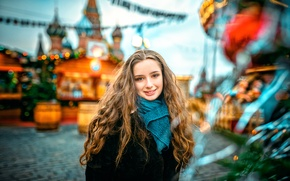 Картинка Москва, ёлка, Merry Christmas, Александра